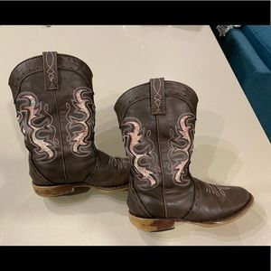 Kids Roper Cowgirl Boots